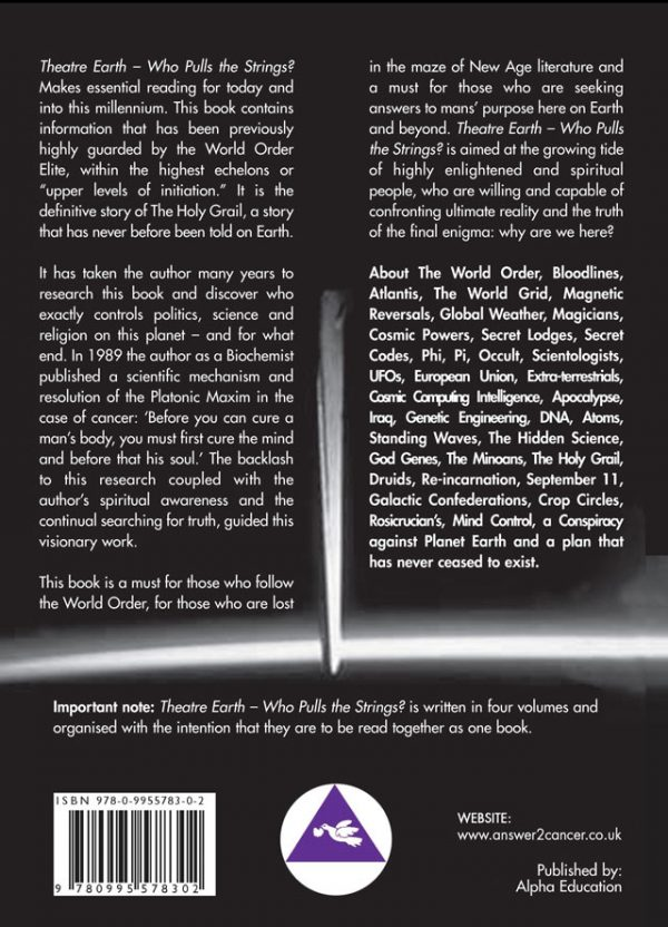 Theatre Earth Vol 1 Back Cover